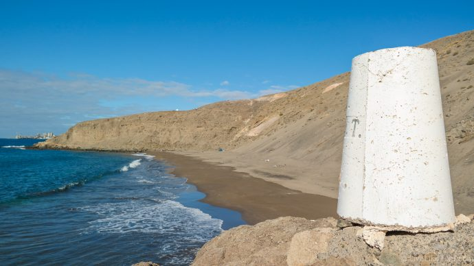 quiet nudist beach on Gran Canaria