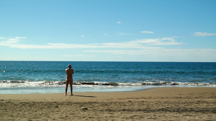 quiet nude beach on Gran Canaria