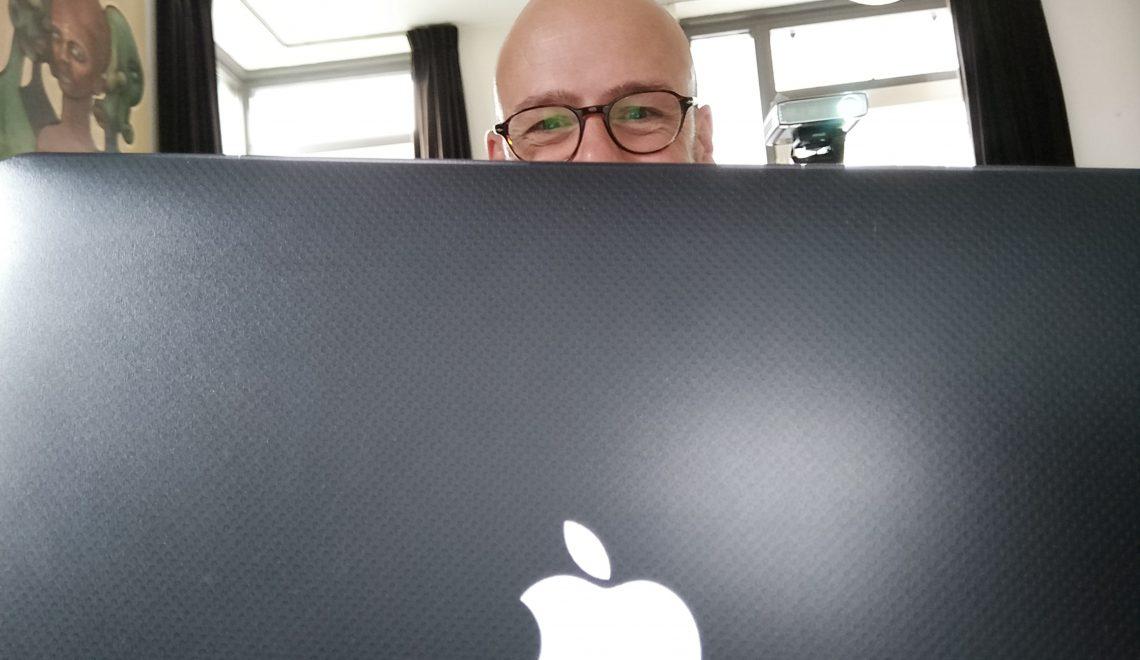 guy checking facebook