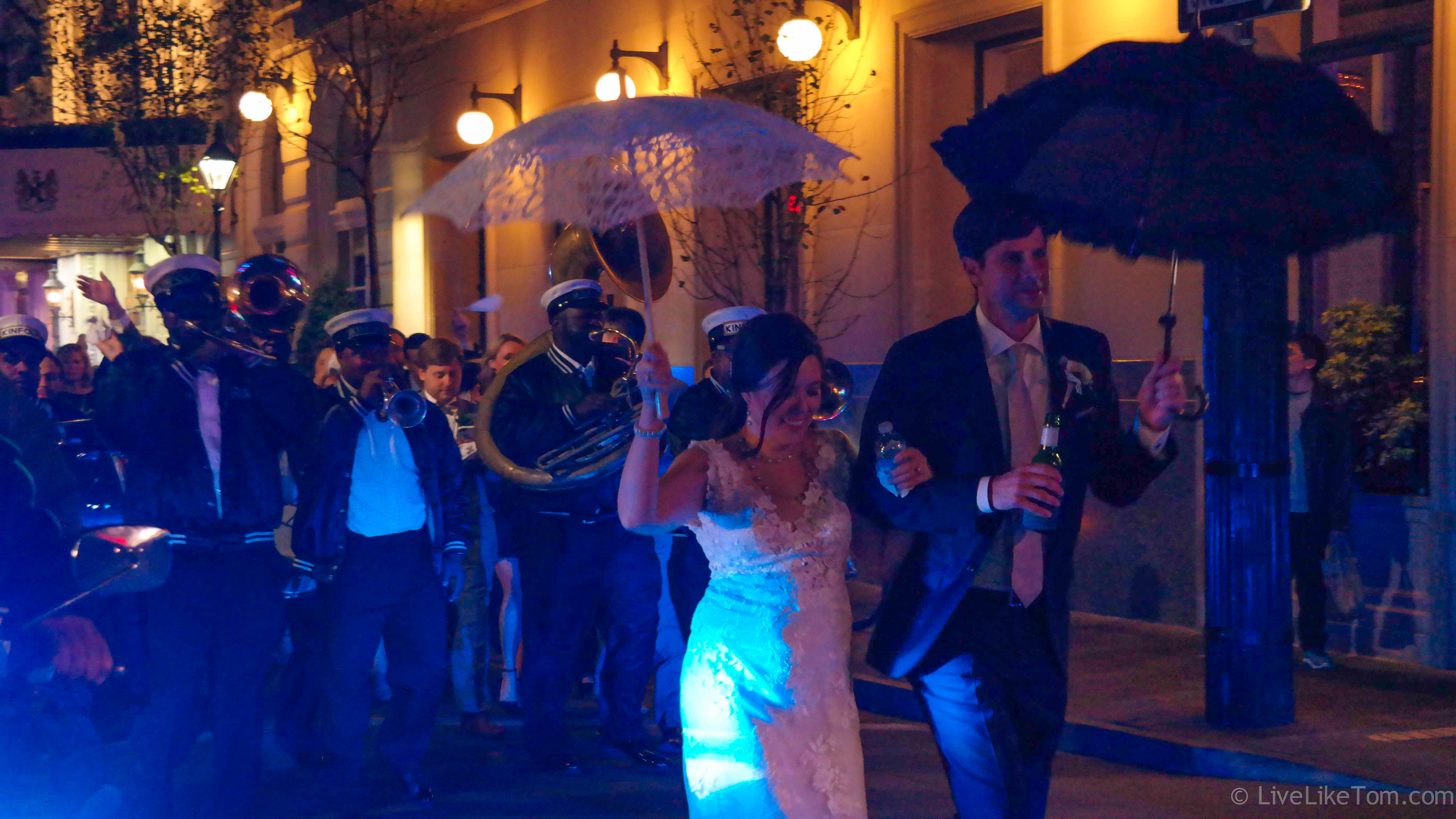 swinging wedding party in New Orleans