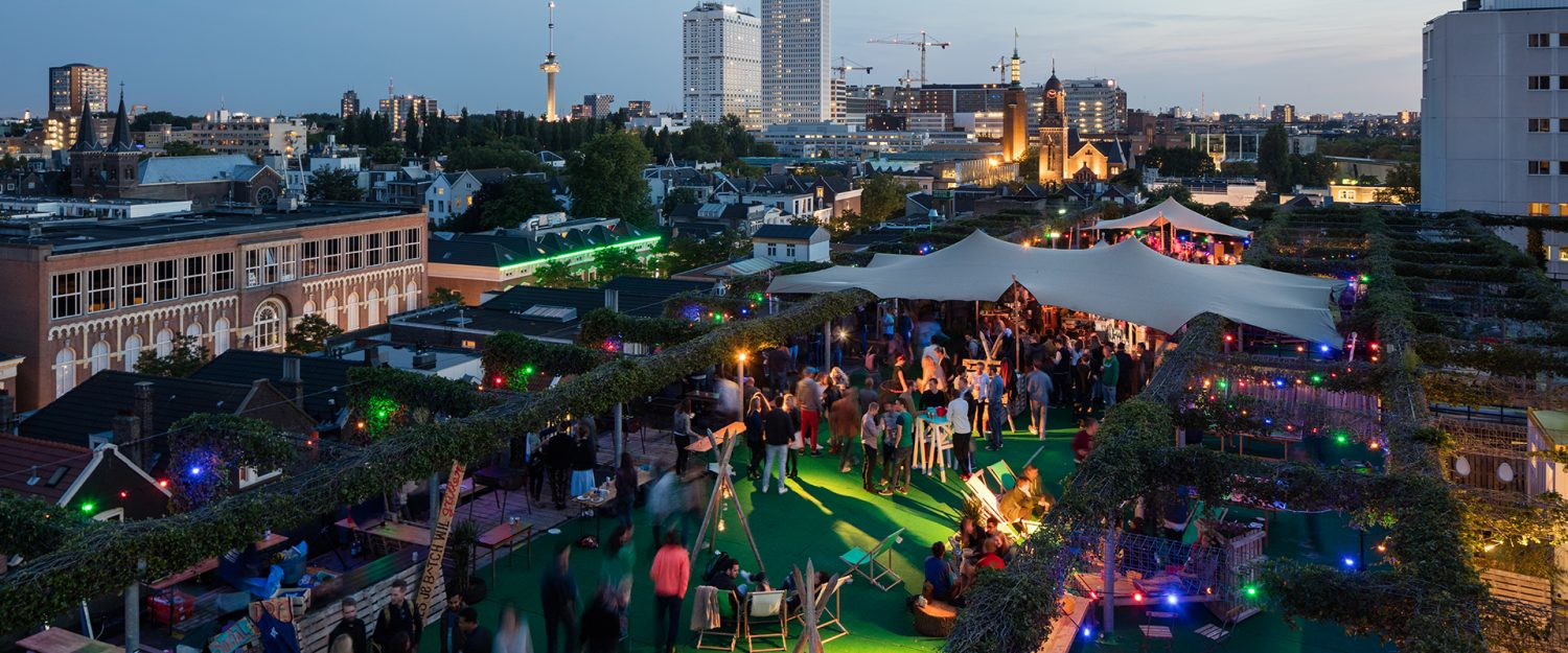 gay rotterdam rooftop bar