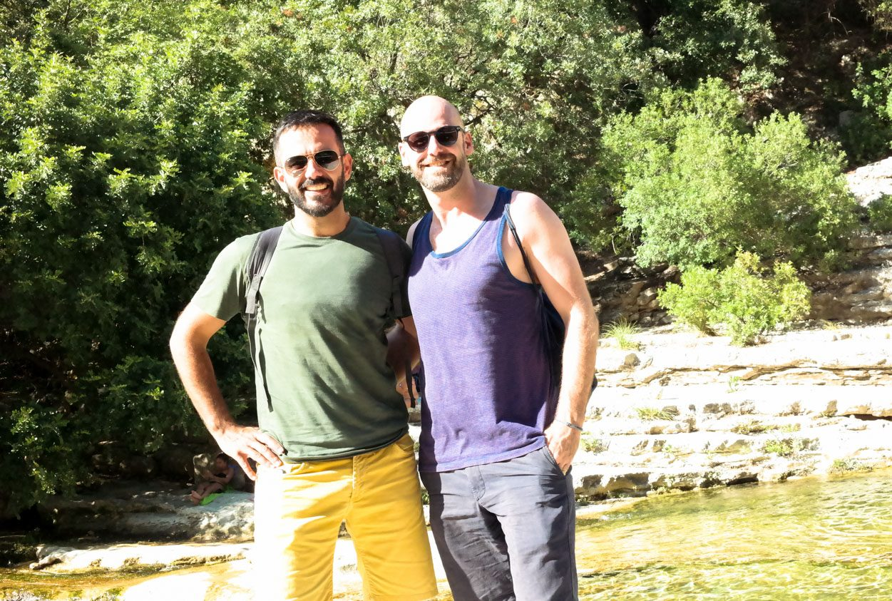 gay Sicily hiking scuba diving gay travel couple